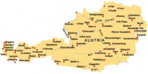 mapa Rakúsko